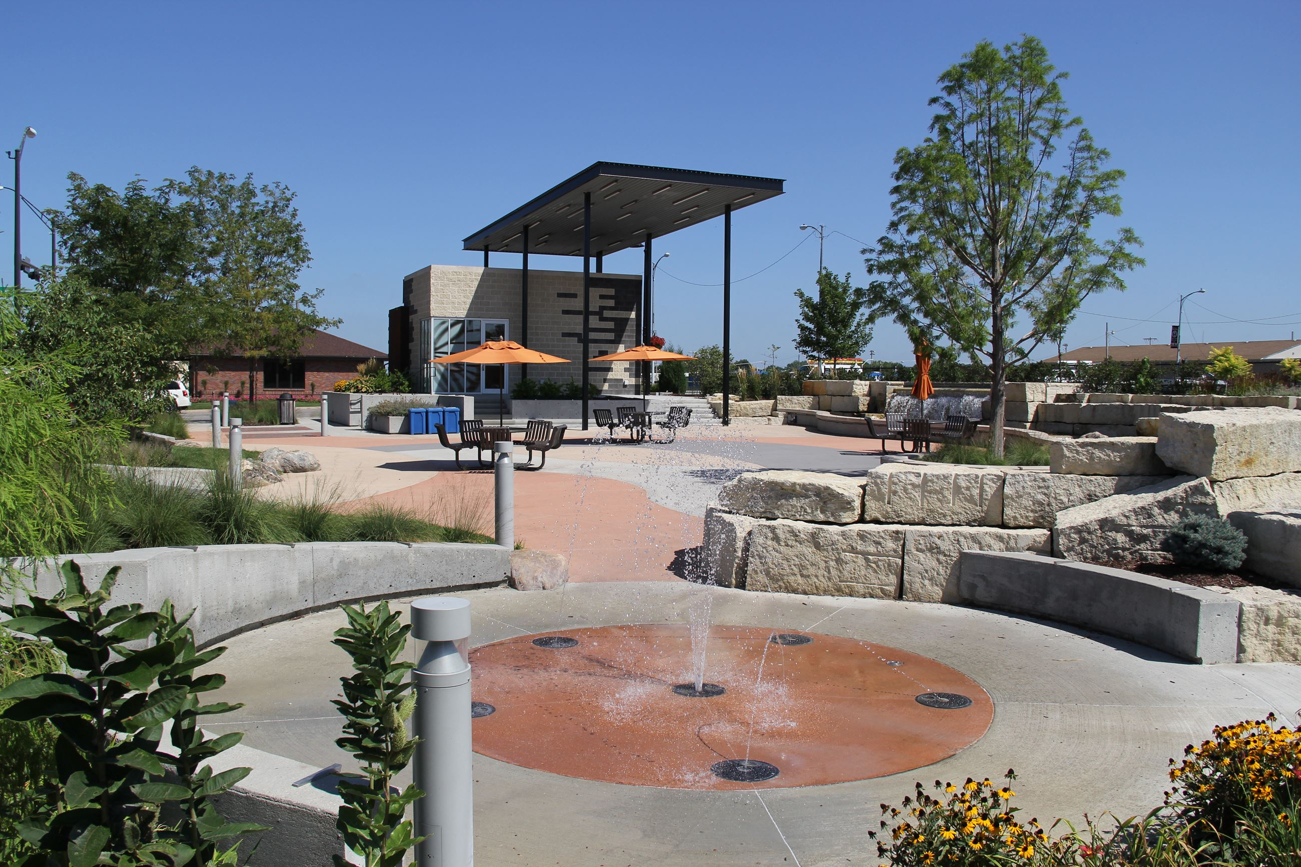 First Street Plaza Splash Pad
