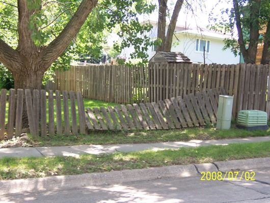 Knocked Over Fence