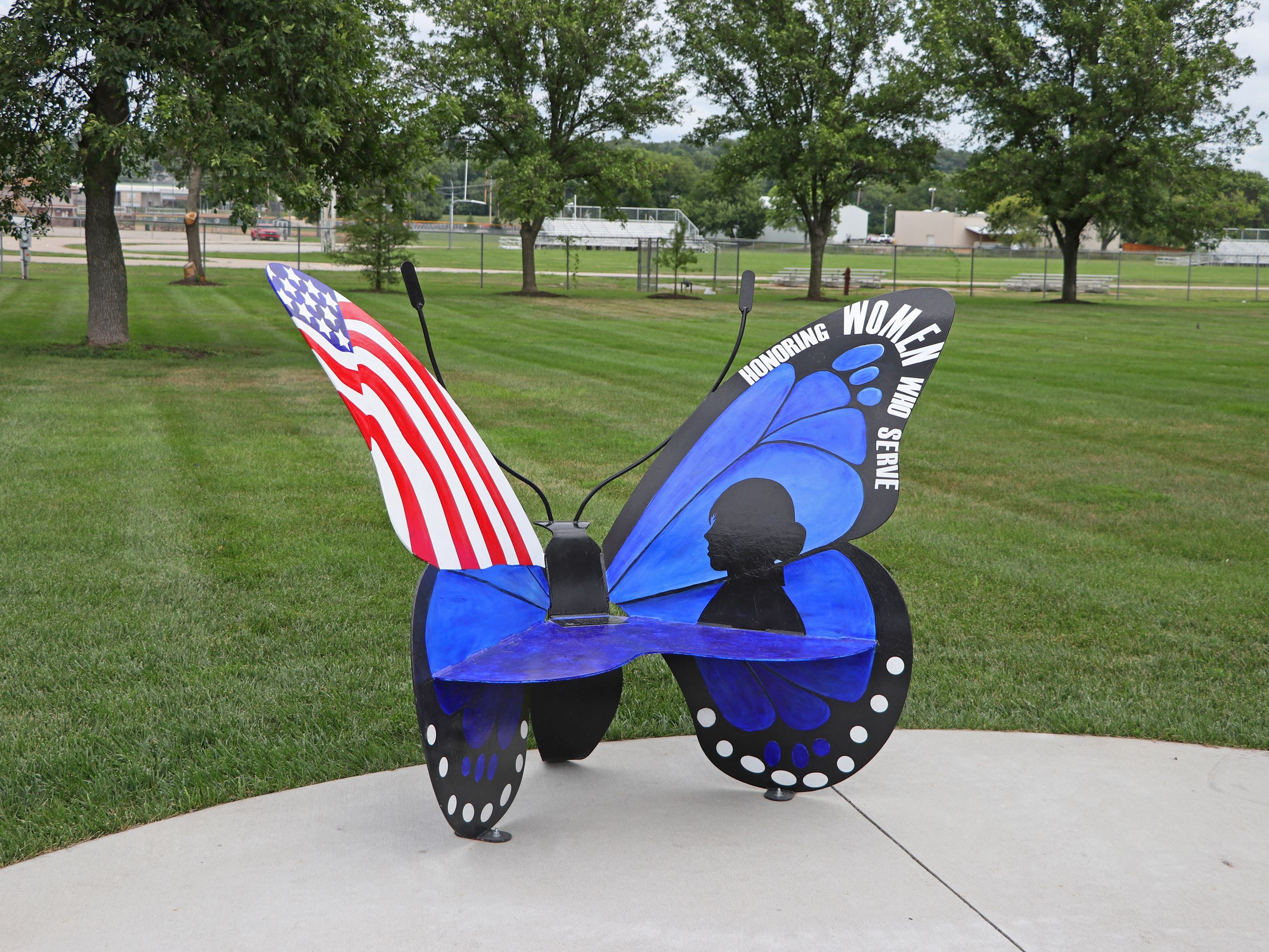 Veterans Park Butterfly Bench