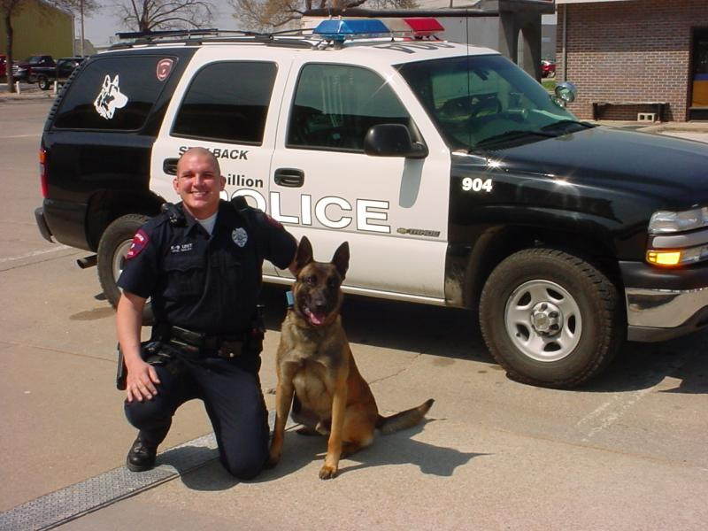 Officer Chris Goley and Kai
