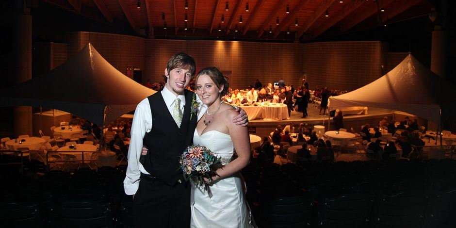 Bride and Groom at Wedding Reception